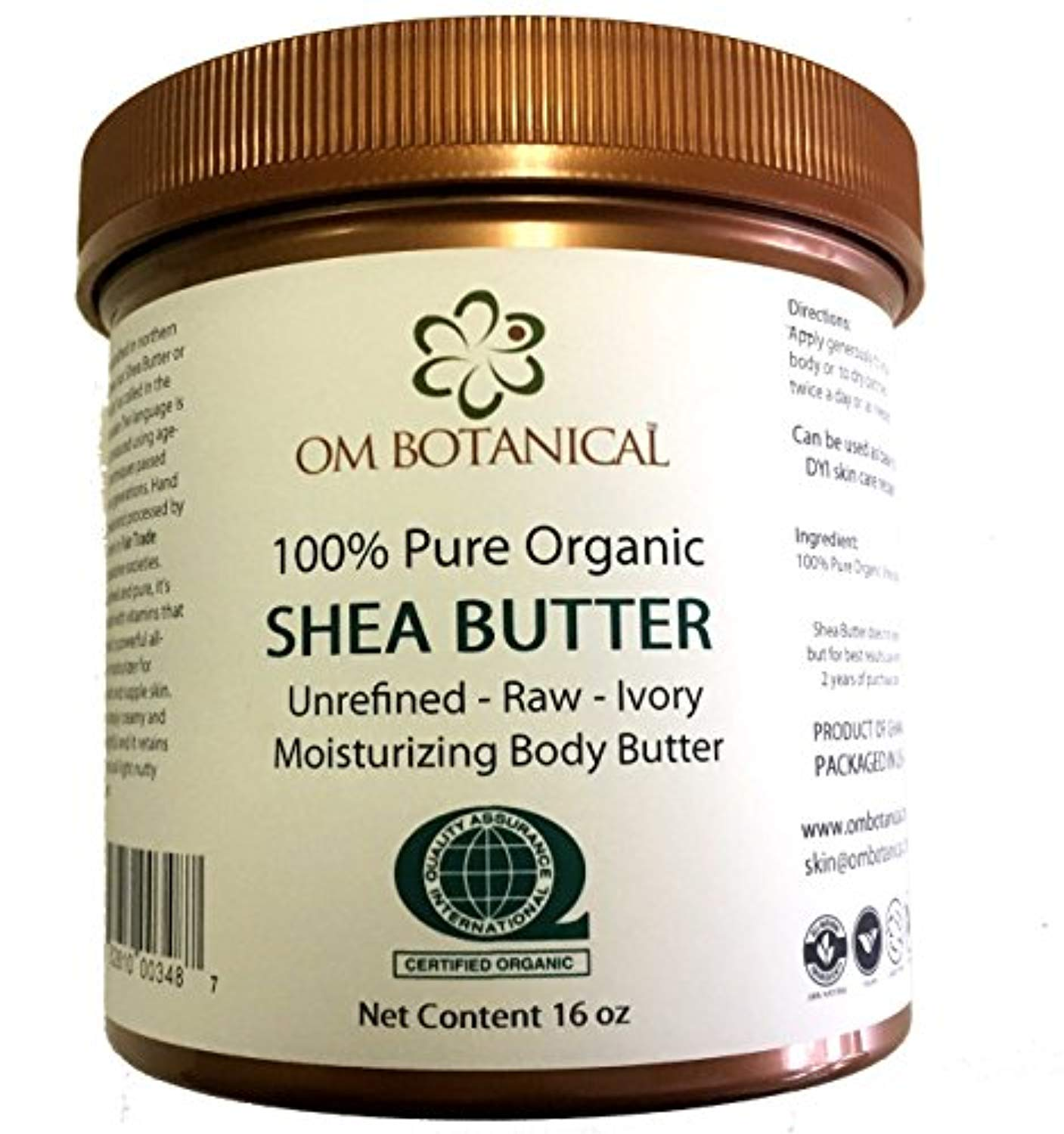 Certified Organic AFRICAN SHEA BUTTER from Ghana 16 oz | Unrefined, Raw, Ivory 100% Pure Body Butter | Skin & Hair Moisturizing, Nourishing and Healing Cream and Base For DIY Skin Care... - Ufumbuzi - Home
