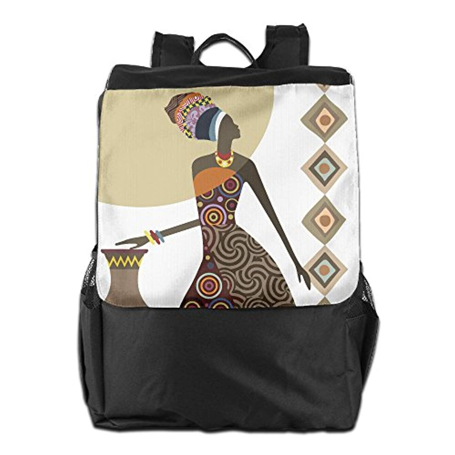 Art African Woman Outdoor Travel Backpack Bags Daypack Bookbags Travel Bag