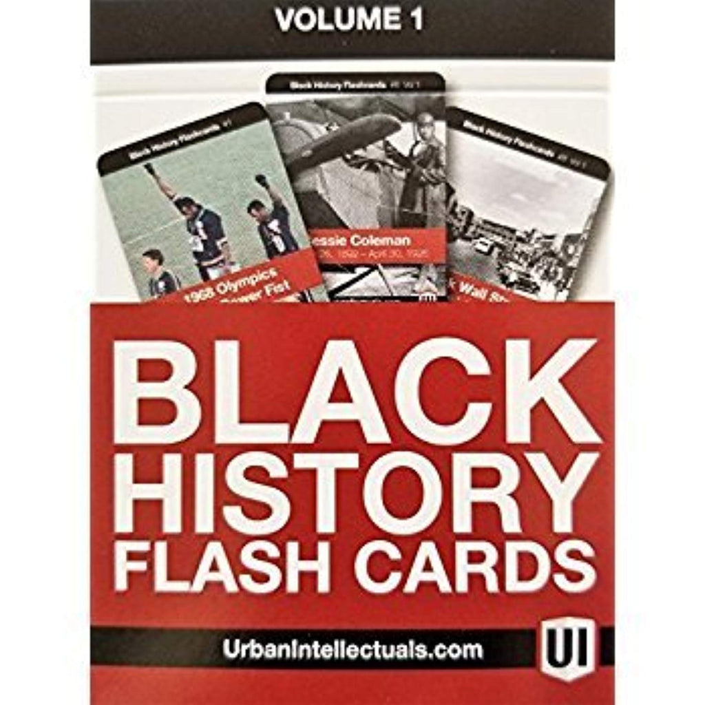 Urban Intellectuals Black History Flashcards, Volume 1 (52 educational card deck)