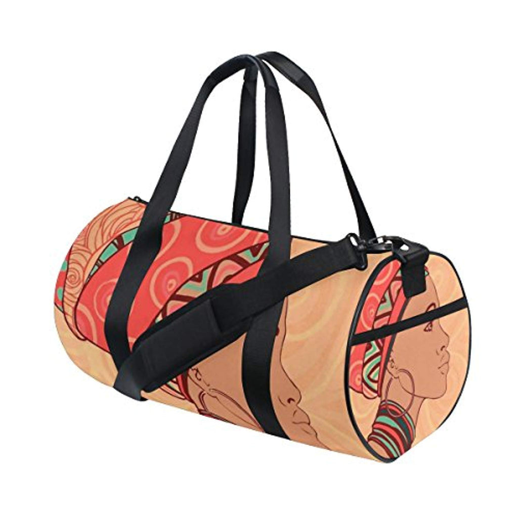 JSTEL African Women Sports Gym Bag for Women and Men Travel Duffel Bag