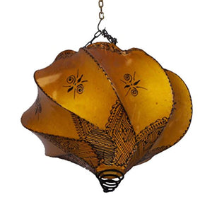 Henna Lamps & Sconces Handmade Henna Moroccan Leather Lamp Ceiling Wall Hanging