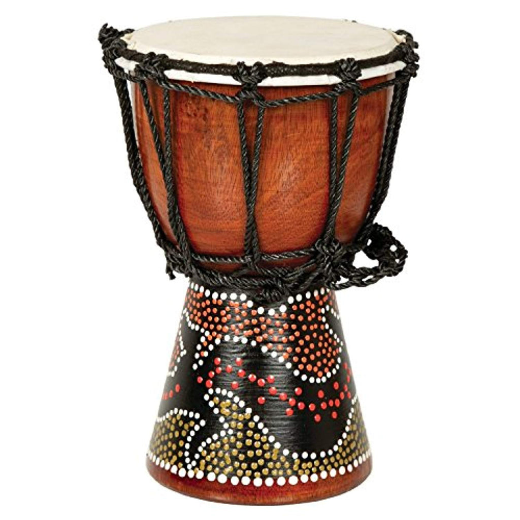 "7"" Drum Mini Jembe Djembe Drum with Gecko Painted Design - Ufumbuzi - Home"