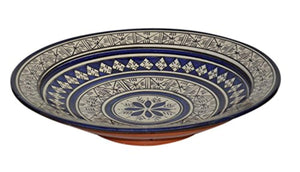 Ceramic Plates Moroccan Handmade Serving Wall Hanging Exquisite Colors Decorative 14 inches Diameter - Ufumbuzi - Home