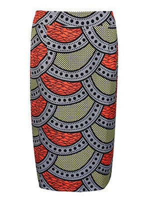 Joeoy Women's High Waist Vintage Printed Midi Pencil Skirt