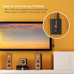 2-in-1 Wireless 3.5mm Adapter TaoTronics Bluetooth 5.0 Transmitter and Receiver