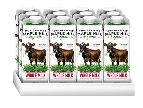 Maple Hill, Shelf Stable Milk, 100% Grass-Fed, Organic- 12pack- 8oz cartons Whole White Milk - Ufumbuzi - Home