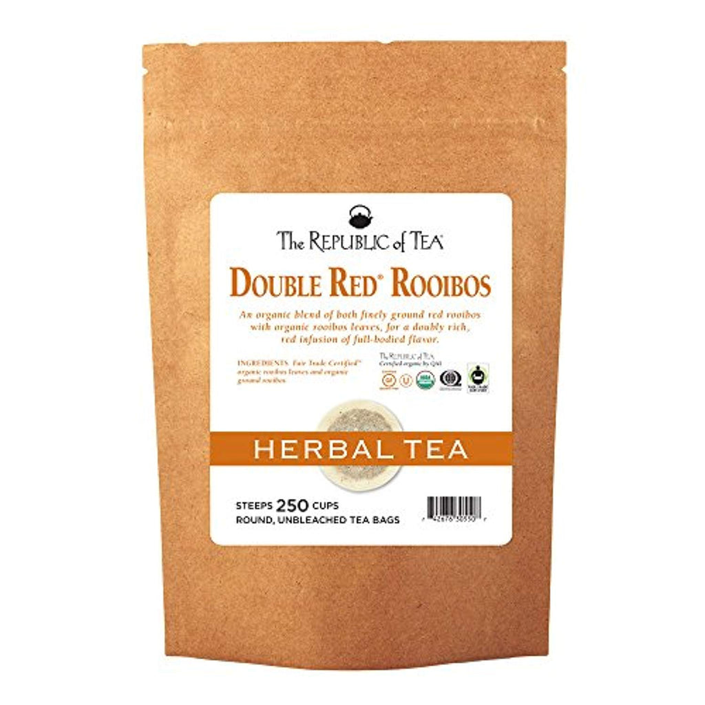 The Republic Of Tea Organic Double Red Rooibos Tea, 250 Tea Bag Bulk