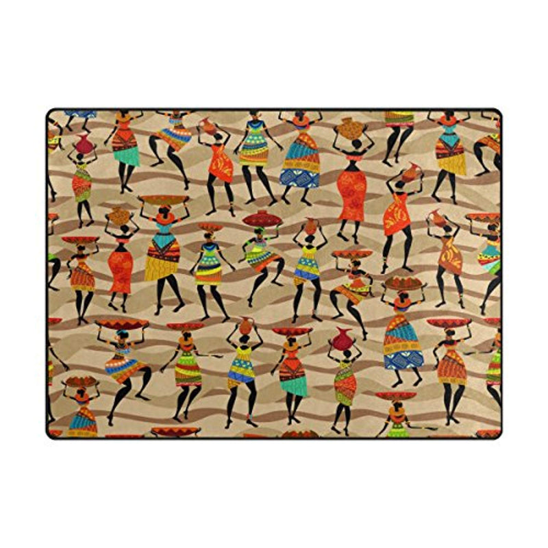 ALAZA African Women Ethnic Vintage Area Rug Rugs for Living Room Bedroom 5'3 x 4' - Ufumbuzi - Home