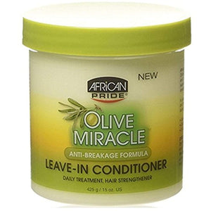 African Pride Olive Miracle Leave-In Conditioner 15oz Jar (3 Pack)