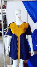 Blue & Yellow Dress