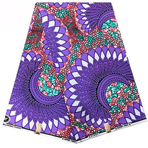 Africa Ankara Supreme Wax Print 6 Yards Fabric (Multicolor) - Ufumbuzi - Home