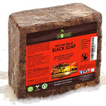 Organic African Black Soap (16oz block) - Raw Organic Soap Ideal for Acne, Eczema, Dry Skin, Psoriasis, Scar Removal, Face & Body Wash, Authentic Black Soap From Ghana with Cocoa , Shea... - Ufumbuzi - Home