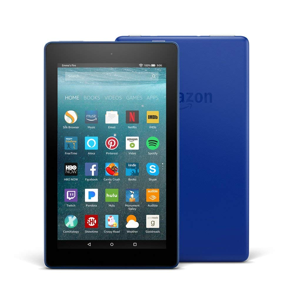 "Fire 7 Tablet with Alexa, 7"" Display, 8 GB, Black - with Special Offers - Ufumbuzi - Home"