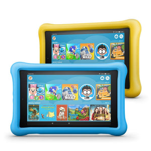 "All-New Fire HD 8 Kids Edition Tablet 2-Pack, 8"" HD Display, 32 GB, Kid-Proof Case - Blue/Pink - Ufumbuzi - Home"