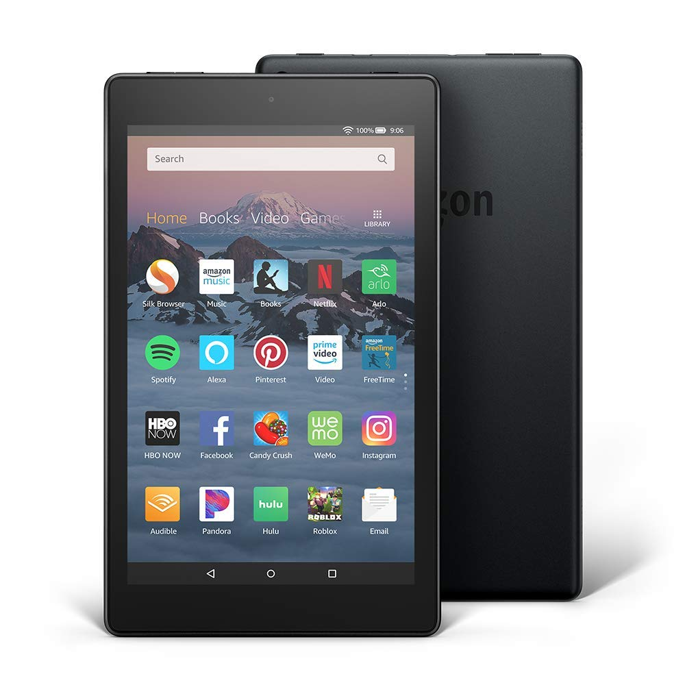 "All-New Fire HD 8 Tablet | 8"" HD Display, 16 GB, Canary Yellow - with Special Offers - Ufumbuzi - Home"