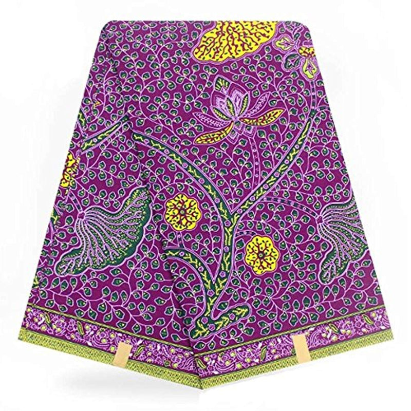 Africa Ankara Super Wax Print 6 Yards Fabric (Multicolor) - Ufumbuzi - Home