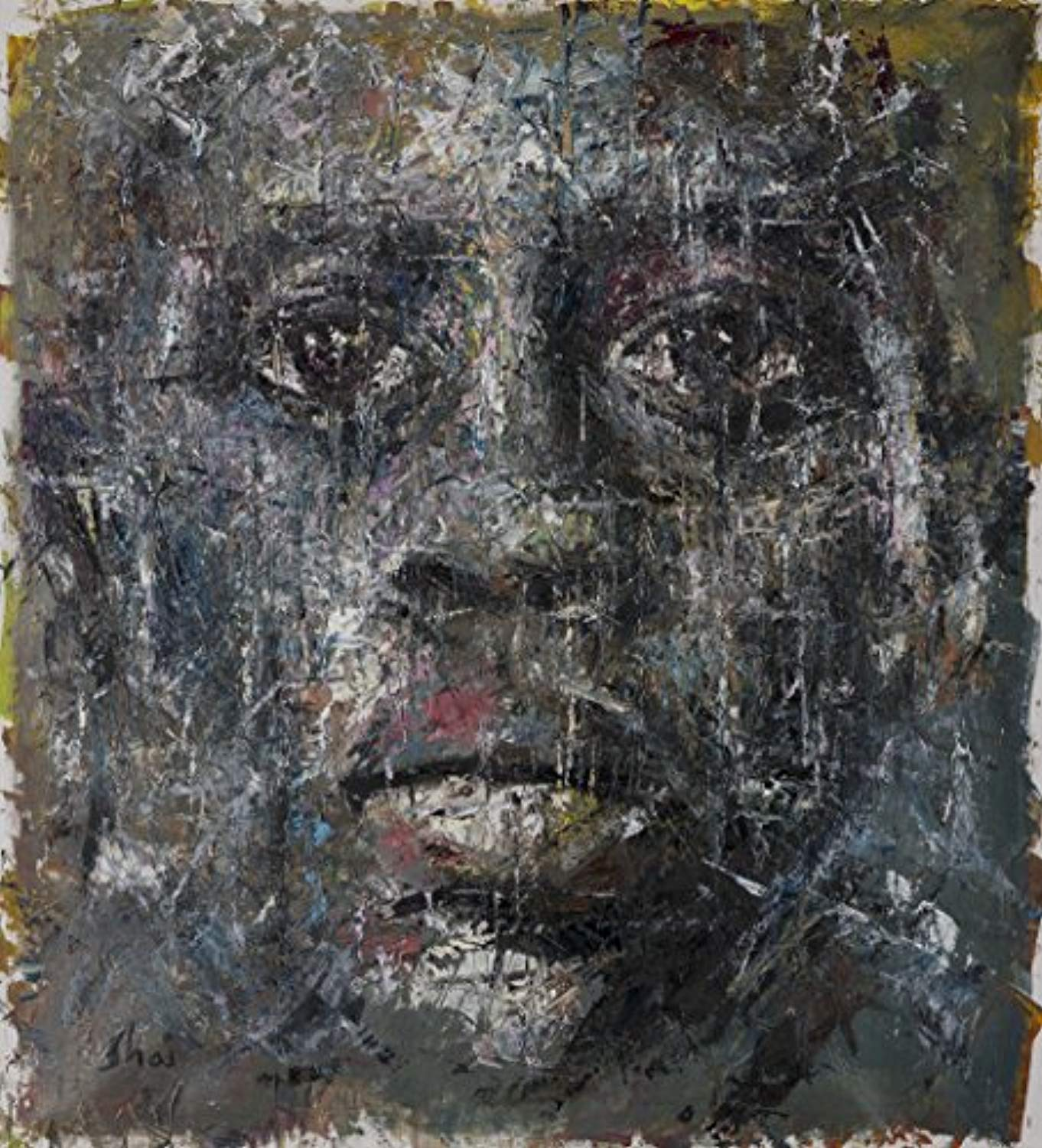 "Shai Yossef Special Extra extra-large print on canvas by the artist, wall art decor,decorative,Art Collectibles,african american man portrait 95/85cm (37.4""x33.47"") Oil paintings prints UNFRAMED - Ufumbuzi - Home"