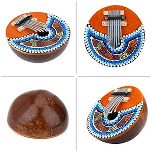 7 Key Thumb Piano Professional Portable Musical African Mbira Instrument for Music Lover