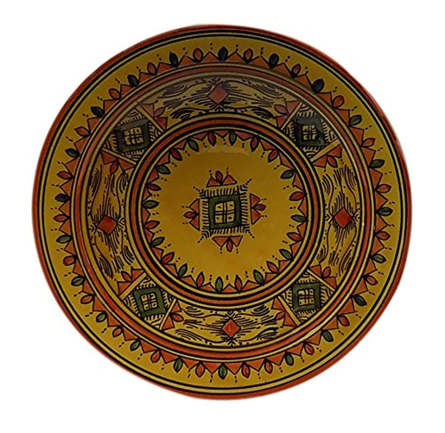 Ceramic Plates Moroccan Handmade Serving, Wall Hanging, Exquisite Colors Decorative 14 inches Diameter - Ufumbuzi - Home