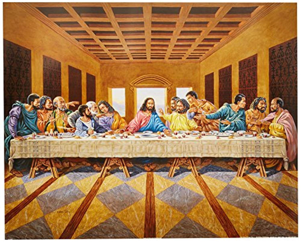 African American Black The Last Supper Jesus Christ Religious Picture Art Print