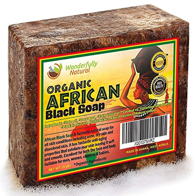Organic African Black Soap | Natural Acne Treatment | Combination Eye wrinkle treatment | Spot Testing Kit included | 1 lb - Ufumbuzi - Home