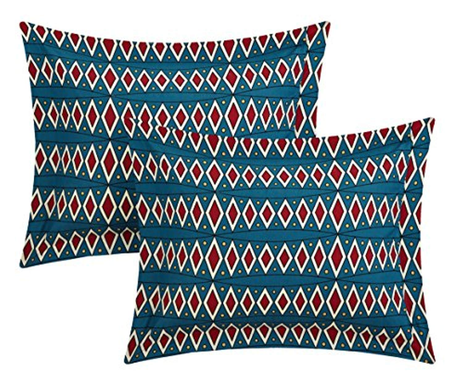 Chic Home 4 Piece Zaiden REVERSIBLE Large Scale global tribal african inspired printed King Duvet Set Red - Ufumbuzi - Home