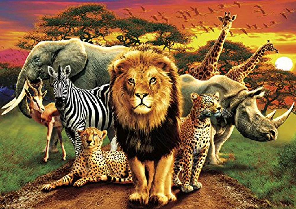 Buffalo Games - Amazing Nature Collection - African Beasts - 500 Piece Jigsaw Puzzle - Ufumbuzi - Home