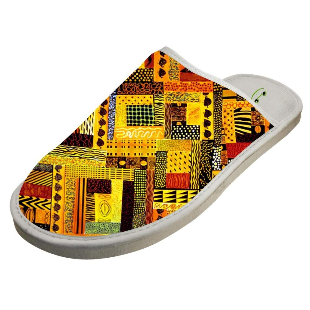 Jane-LEE Africa Arts Paintings House Slippers/Cotton Slippers/Flat Shoes/Indoor Slippers - Ufumbuzi - Home