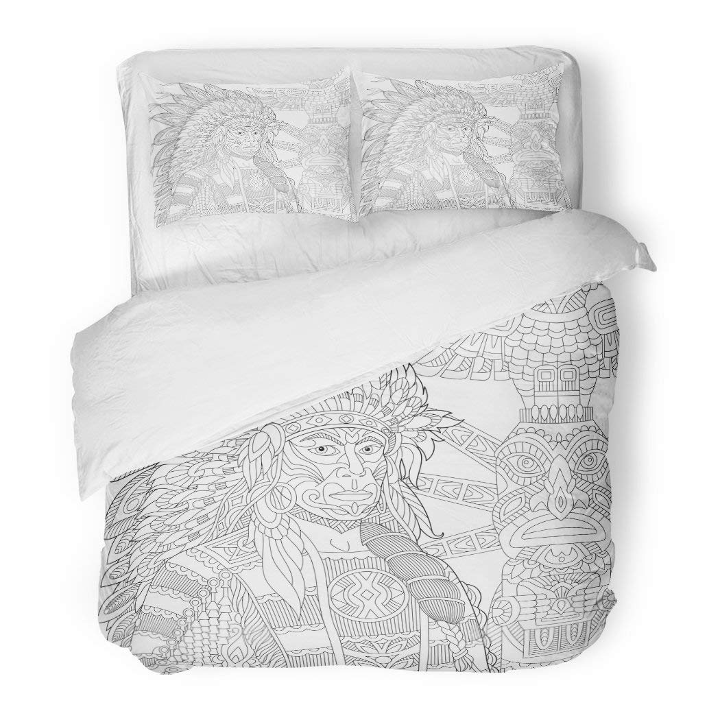 SanChic Duvet Cover Set African Everyday Woman with Bowl on Head Boy Fruit in Plate National Houses Native Animals Flat Decorative Bedding Set with Pillow Sham Twin Size - Ufumbuzi - Home