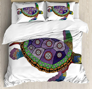 Ambesonne Afro Decor Duvet Cover Set, African American Girl Singing with Saxophone Player Popular Sound Design, 3 Piece Bedding Set with Pillow Shams, Queen/Full, Black Light Grey