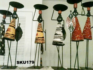 African Figurine Candle Stick Holders