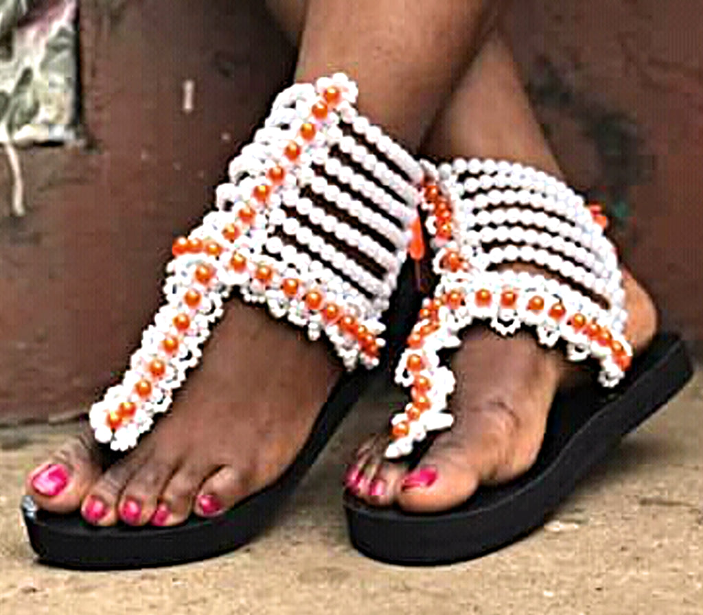 Handmade Bead Slippers