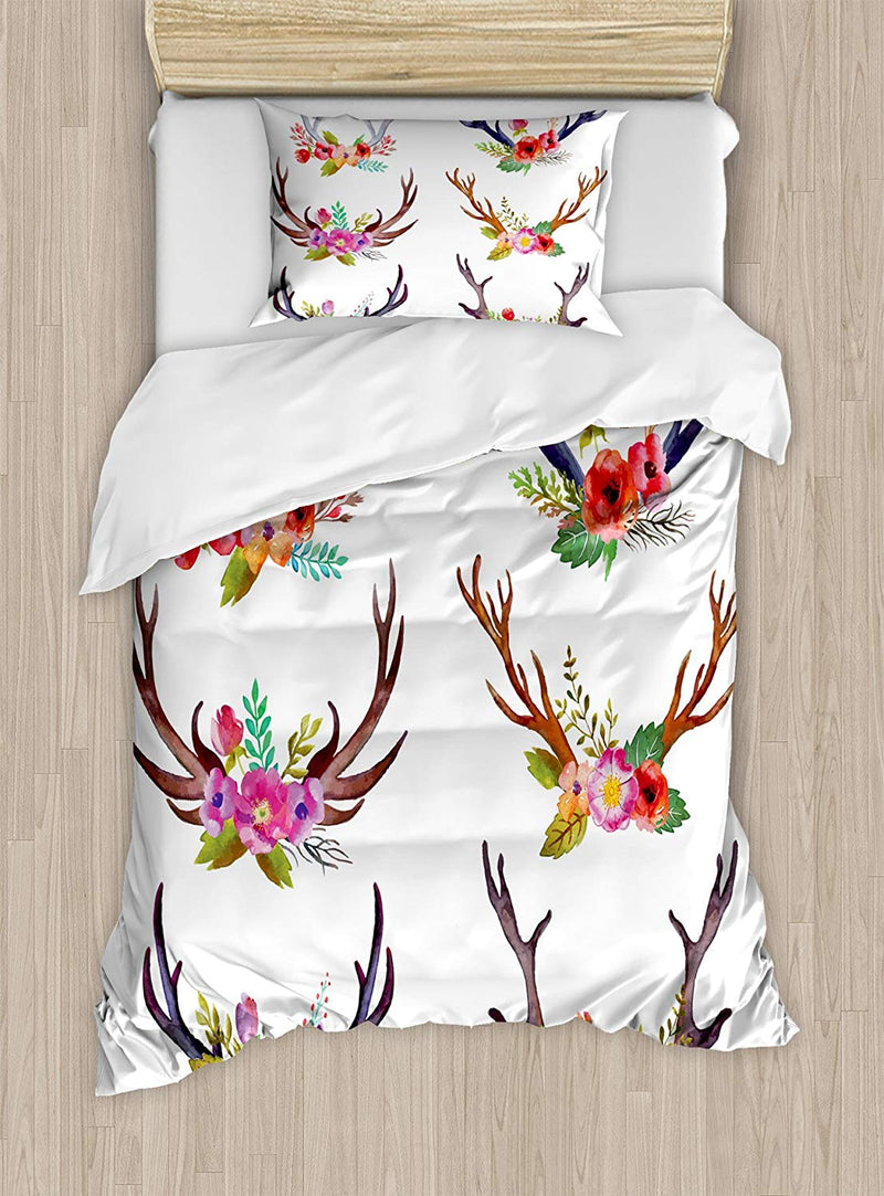 Ambesonne African Woman Duvet Cover Set Queen Size, Watercolor Profile Portrait of Native Woman with Ethnic Hairdo and Earrings, Decorative 3 Piece Bedding Set with 2 Pillow Shams, Multicolor - Ufumbuzi - Home