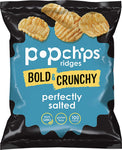Popchips Ridges Potato Chips Variety Pack Single Serve 0.8 oz Bags (Pack of 24), 8 Tangy BBQ, 8 Cheddar & Sour Cream, 8 Buffalo Ranch - Ufumbuzi - Home