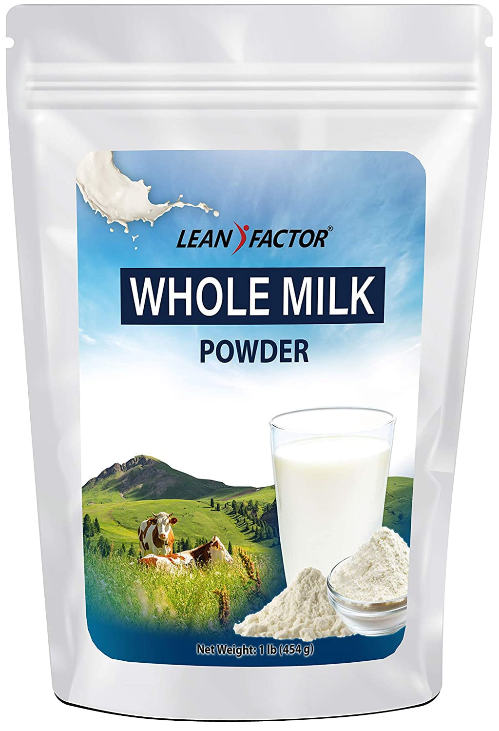 Whole Milk Powder - Dehydrated For Long Term Food Storage - Use For Cooking, Baking, Cereal, Coffee & Tea - Great For Adults & Kids - Non GMO & Gluten Free Shelf Stable Dried Milk - 1 lb - Ufumbuzi - Home