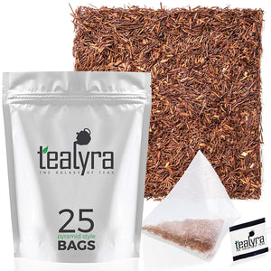 Tealyra - Pure Rooibos Red Herbal Tea - African Red Bush Loose Leaf Tea - High in Antioxidants - Relax - Detox - Low Blood Pressure - Kids Welcome - Caffeine-Free - Organically Grown - 220g (8-ounce) - Ufumbuzi - Home
