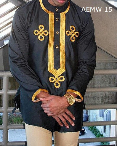 African Embroidered Mens Shirts
