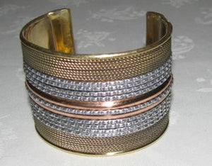 African-copper-tin-bracelet