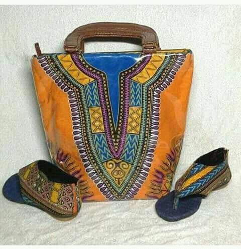 Ankara Hand made Hand Bag and shoe