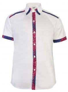 African Embroidered Mens Shirts(White) - Ufumbuzi - Home
