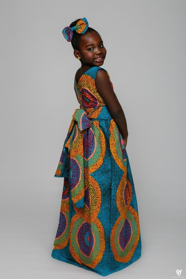 Long Ankara Dress - Ufumbuzi - Home