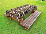 Ambesonne Zambia Outdoor Tablecloth, Unique Safari Artistic Kenyan Traditional Folk Symbols Culture Retro Print, Decorative Washable Picnic Table Cloth, 58 X 84 inches, Pale and Dark Brown