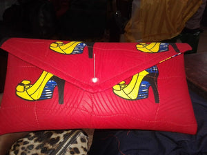 African Leather Clutch Bag