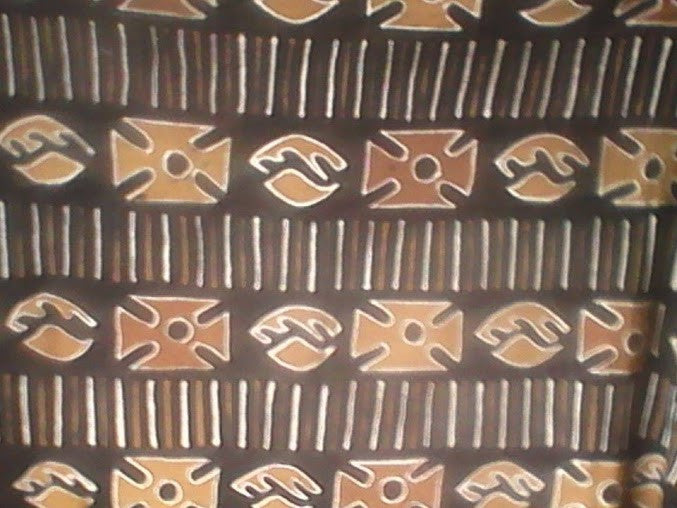 Bògòlanfini or bogolan Clothe or Mudcloth