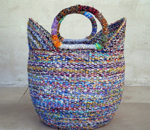 Bolga Recycled Basket Large