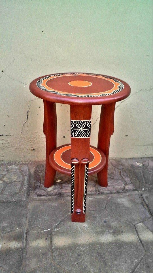 Handmade Fante Maske from Ghana Table - Ufumbuzi - Home