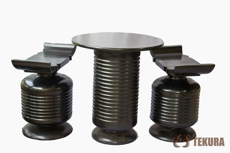 Tekura Table and Stool Set - Ufumbuzi - Home