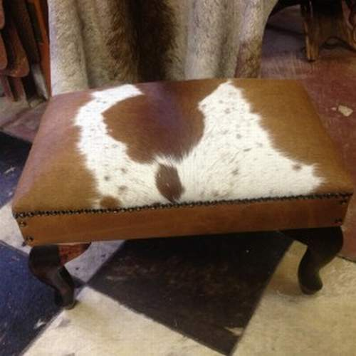 Nguni-hide-foot-stool - Ufumbuzi - Home