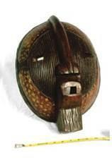 African Carved Face Masked