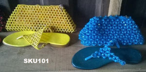 African Purses & Slippers Set - Ufumbuzi - Home